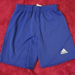 Boy's Adidas Athletic shorts Blue YS Climalite